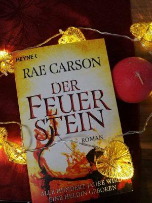 """Rezension zu """"Der Feuerstein"""" von Rae Carson Rezensionsexemplar"""