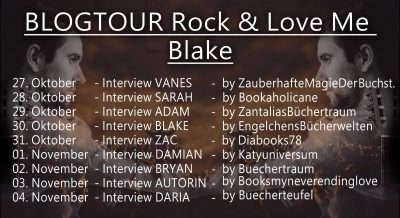 "Interview mit Adam Frontmann der Band ""Bael"" Blogtour zu ""Rock & Love me"" von Nicky P. Kiesow."