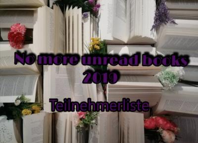 No more unread books 2019 – Teilnehmerliste und Punktestand